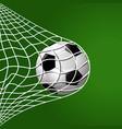 football hitting goal net background vector image