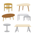furniture wooden table isolated vector image vector image