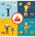 Gift Party Birthday Businessman character concept vector image vector image