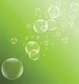 Green bubble background vector image vector image