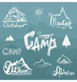 Hand-Drawn vintage lettering label with mountains vector image vector image