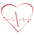 Heart cardiogram with heart on it vector image vector image