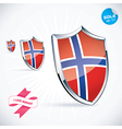 I Love Norway Flag vector image