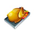 icon chicken vector image vector image