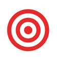icon target in flat design stock vector image