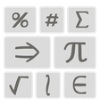 icons with mathematical symbols vector image