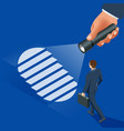 isometric new business direction concept business vector image