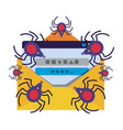 letter and window with spider isolated icon vector image vector image