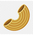 maccheroni pasta mockup realistic style vector image vector image