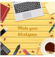 Make your workspace banner6 vector image vector image