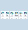 mobile app onboarding screens online streaming vector image vector image