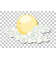 moon with clouds in chinese style isolated vector image vector image