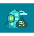 Mortgage buying home vector image