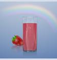 natural berry juice ads refreshing berries with vector image vector image