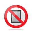 no computer tablet sign vector image vector image