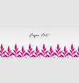 paper origami fresh grass banner vector image vector image