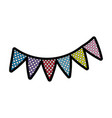 pennants decoration party vector image vector image