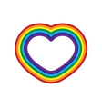 Rainbow icon heart flat design isolated vector image vector image