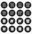 receipt icon set round vector image vector image