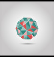 red and green sphere polygon shape icon vector image