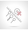 Risk of infertility flat line icon vector image vector image