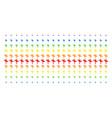 road pointer shape halftone spectral grid vector image vector image