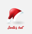 santa claus hat on white background vector image vector image