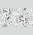 seamless pattern with isometric rooms vector image vector image