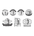 set of distillery production icons vector image