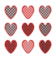 Set of heart icons for Valentines Day and wedding vector image