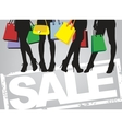 shopping time vector image vector image