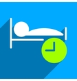 Sleep Time Flat Square Icon with Long Shadow vector image vector image
