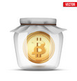 symbol of save digital money vector image vector image
