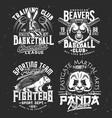 t-shirt prints with armadillo panda beaver vector image vector image