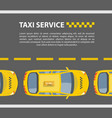 taxi service mockup vector image vector image