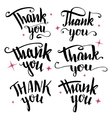 Thank you calligraphy collection vector image vector image
