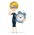 time management stock flat vector image vector image