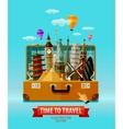 travel vacation logo design template vector image vector image