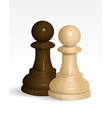 Two chess pawns vector image vector image