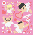 Valentines Day cartoon cupid vector image vector image