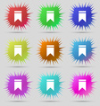 Web stickers tags and banners Sale icon sign A set vector image vector image