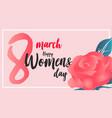 women day banner vector image vector image