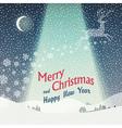 wonderful christmas landscape vector image vector image