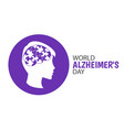 world alzheimers day vector image vector image