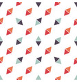 seamless pattern with red and blue triangles vector image