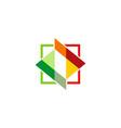 square colored shape logo vector image