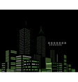 Night modern city abstract background vector image