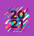 2021 happy new year big numbers with color vector image vector image