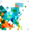 abstract colorful and creative geometric template vector image vector image