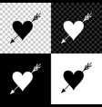 amour symbol with heart and arrow icon isolated on vector image vector image